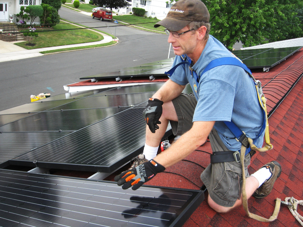 Mark Bortman of Exact Solar in Yardley, Pa., says having leased solar panels on a roof can add an extra step when selling a house. He says typically a buyer will assume the remainder of the lease but that requires a credit check and some paperwork