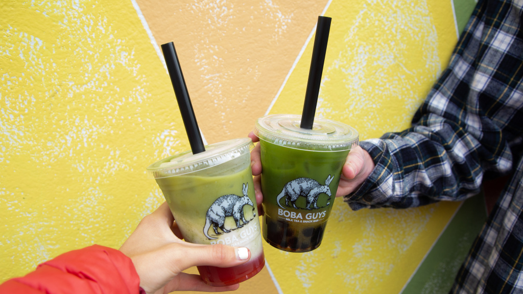 Bubble tea, or boba, features large tapioca balls at the bottom meant to be sucked up through a plastic straw. Vendors say paper straws don't always work as well, and they're more expensive.