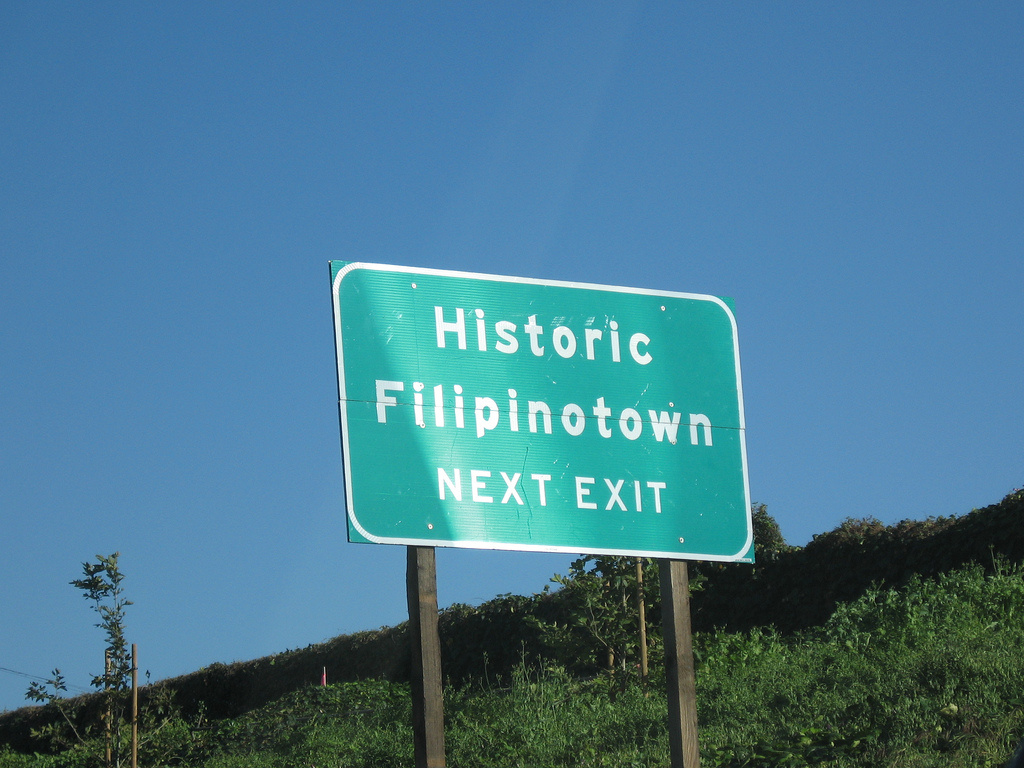 A sign pointing to Los Angeles' Historic Filipinotown.