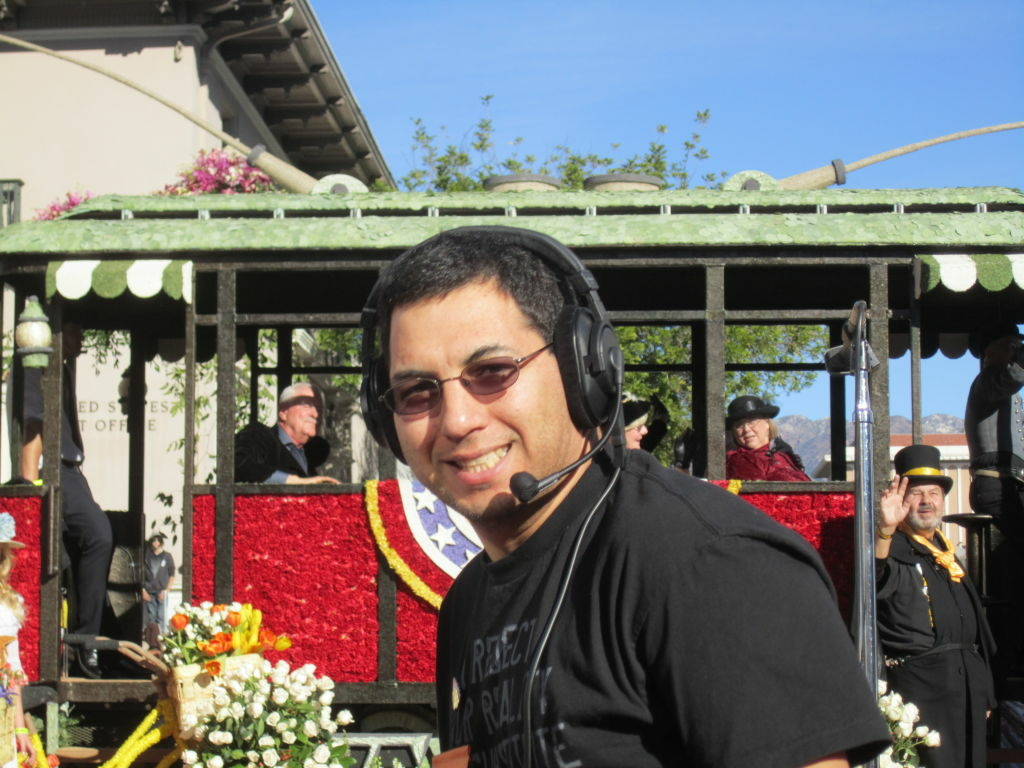 Richard Blythe is a volunteer commentator with the Los Angeles Radio Reading Service, which describes the Rose Parade for blind spectators.