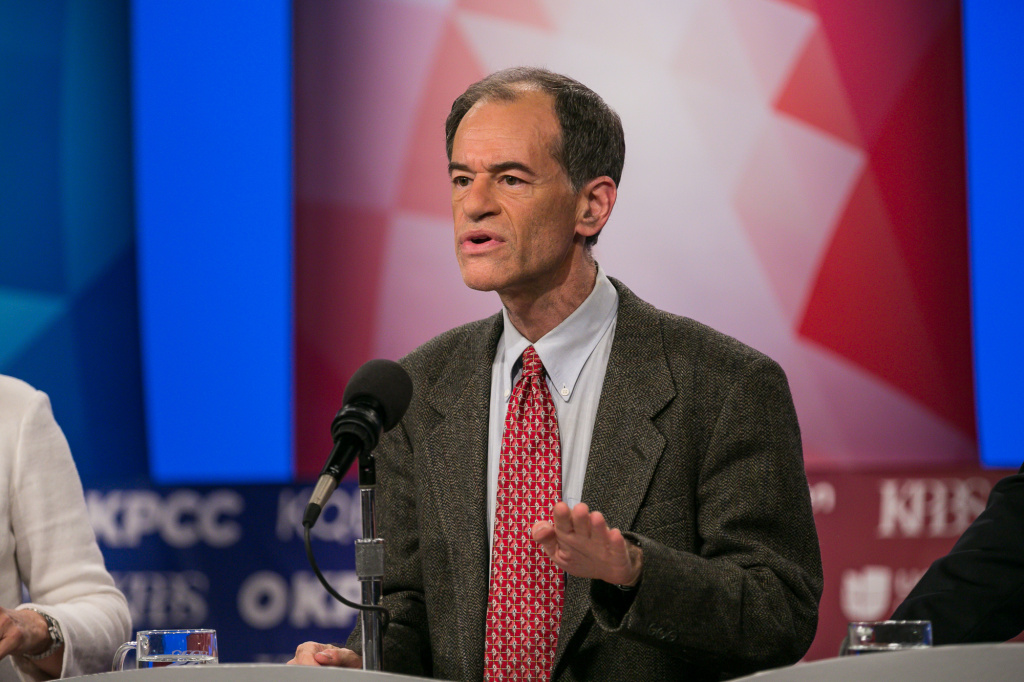Ron Unz at a U.S. Senate debate at KPBS in San Diego, May 10, 2016.