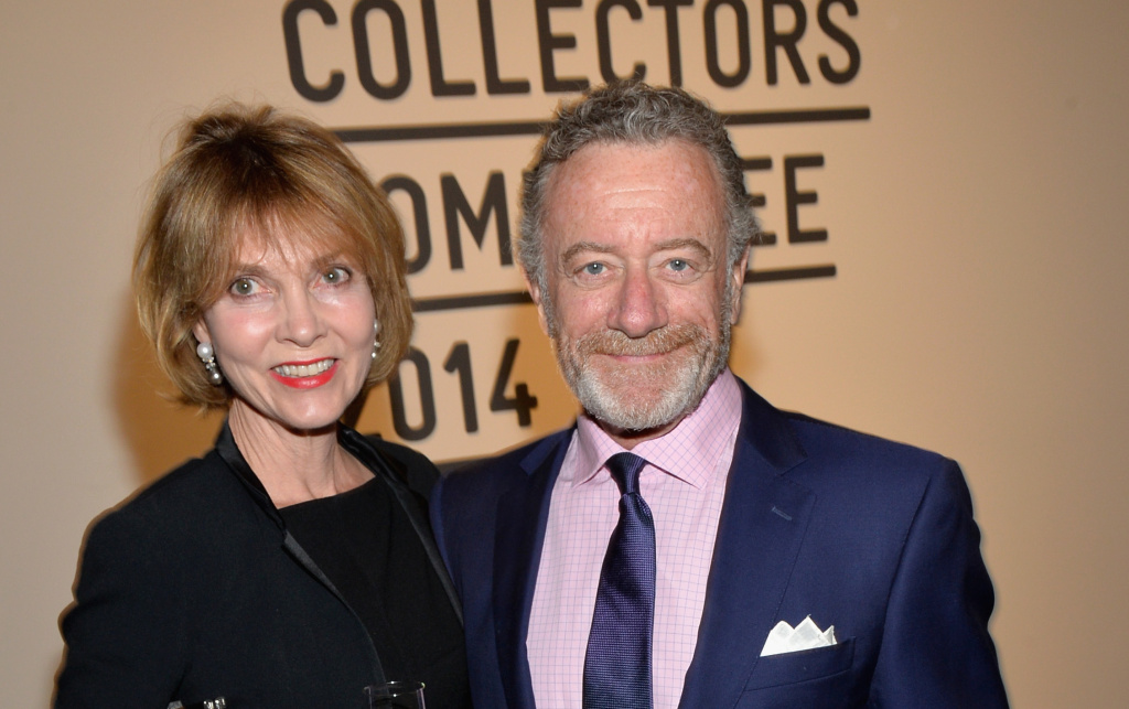 Jarl Mohn (right) and Pamela Mohn attend LACMA's 2014 Collectors Committee Gala Dinner at the Los Angeles County Museum of Art on April 26, 2014, in Los Angeles.