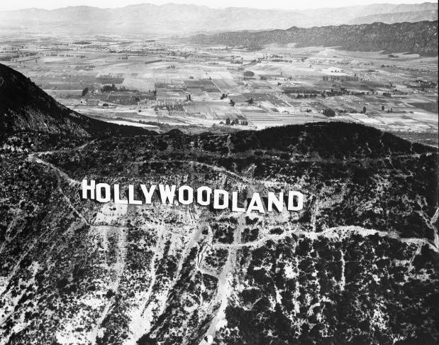 A replica of the Hollywood sign was put up in Bronson Canyon for the 1974 film Day of the Locust.