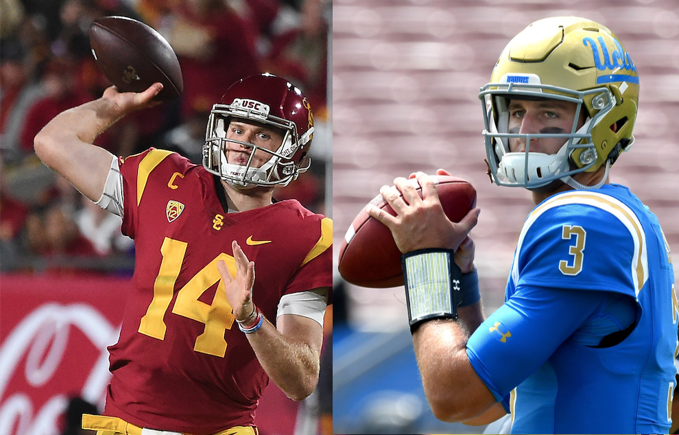Sam Darnold and Josh Rosen were born four months apart and grew up on opposite sides of Los Angeles.