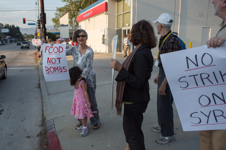 Silver Lake Syria Protest