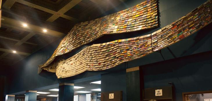 Book tunnel at the Last Bookstore.