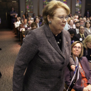 "Saying she is acting out of """"great sorrow, great rage,"" University of Virginia President Teresa Sullivan, seen here in April, is suspending all the school's fraternities until January."