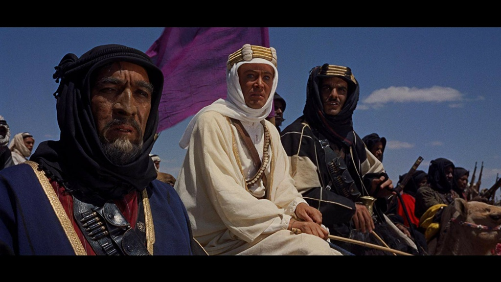 Anthony Quinn, Peter O'Toole, and Omar Sharif star in Columbia Pictures'