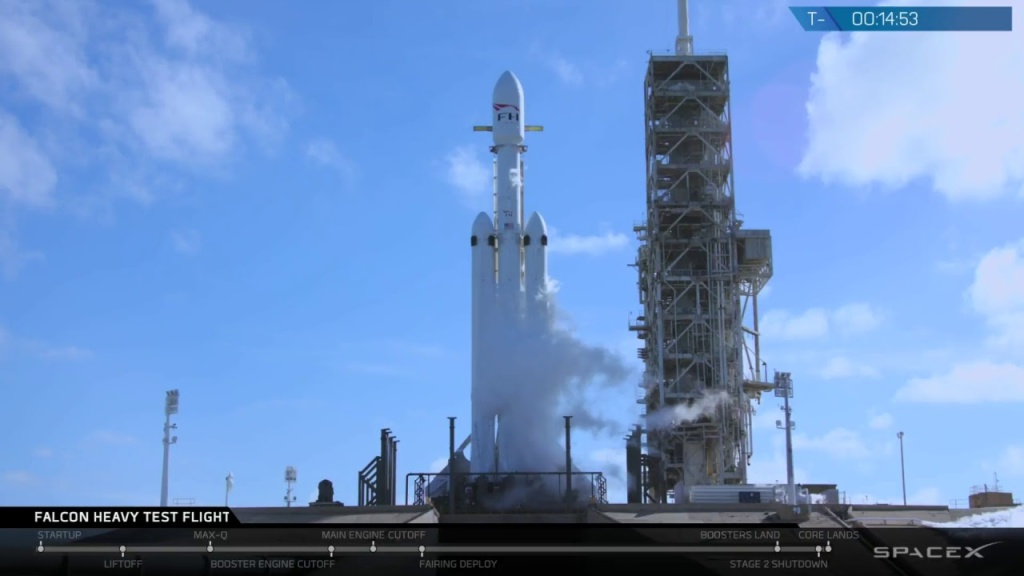 The Falcon Heavy rocket successfully launched Tuesday, Feb. 6, 2018.