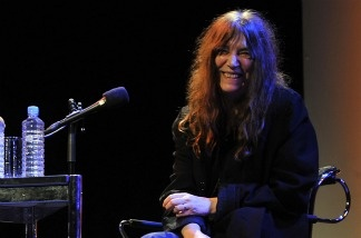US rock singer and author Patti Smith at a literature festival in Cologne, Western Germany. She'll be in conversation with Dave Eggers this weekend at the Los Angeles Times festival, discussing Patti Smith's book, Just Kids.