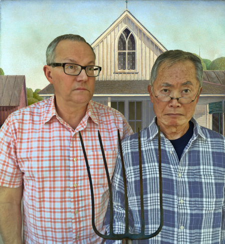 Brad and George Takei, the new typical American married couple.