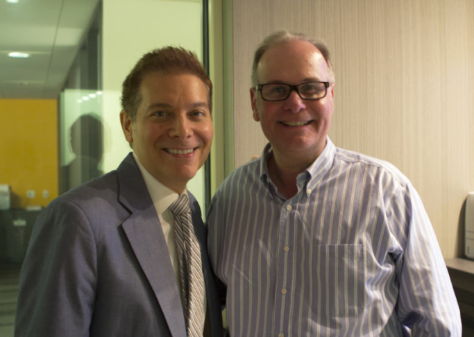 Larry Mantle and Michael Feinstein.