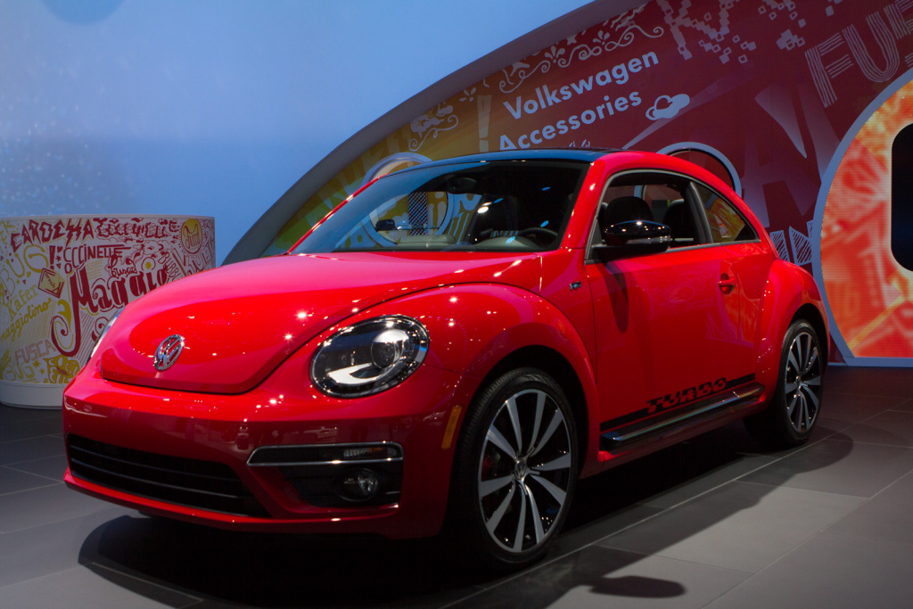 The 2013 Volkswagen Beetle at the LA Auto Show. VW had another great month for U.S. sales. But it wasn't alone.