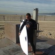 Pre-storm surfer