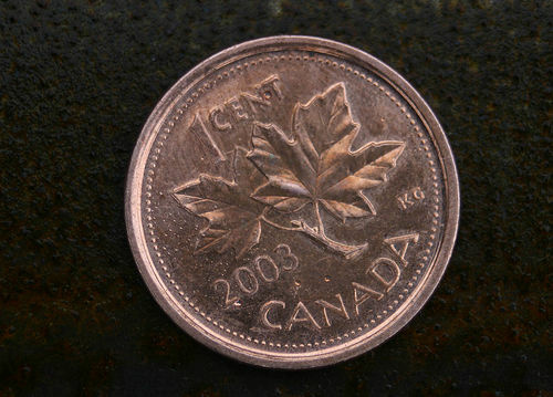The eliminated Canadian penny.