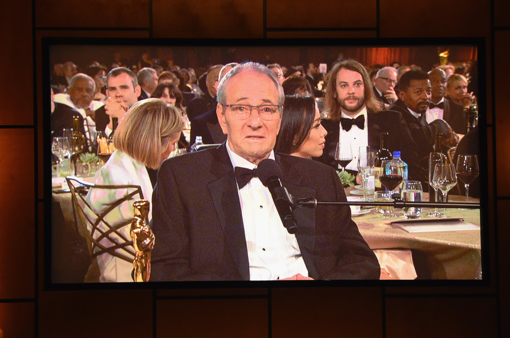 Cinematographer Owen Roizman, winner of the Honorary Award, speaks at the Academy of Motion Picture Arts and Sciences' 9th Annual Governors Awards on November 11, 2017.