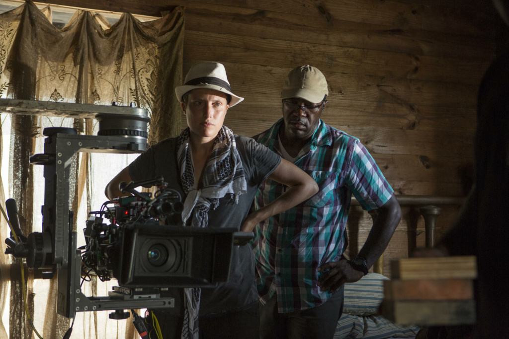 Cinematographer Rachel Morrison on the set of