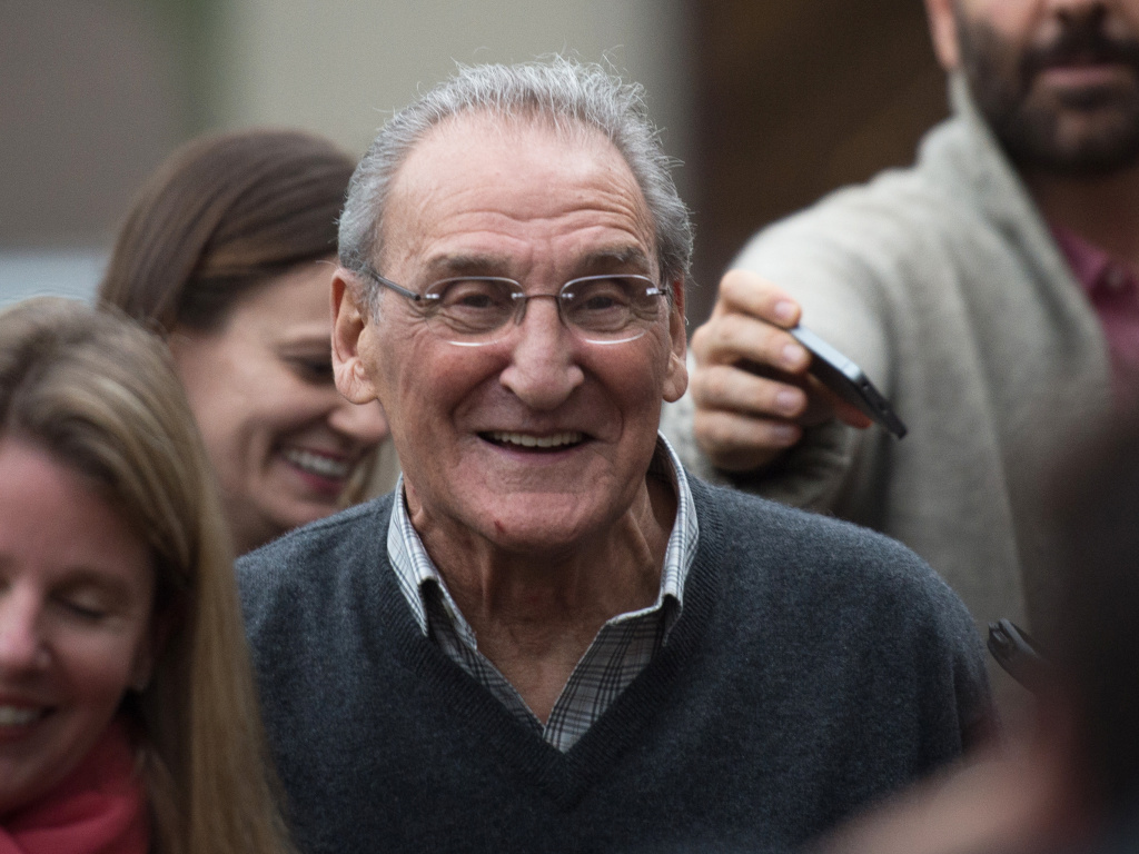 Vincent Asaro leaves Brooklyn federal court on Thursday, after being acquitted of charges he helped plan a legendary 1978 Lufthansa heist retold in the hit film