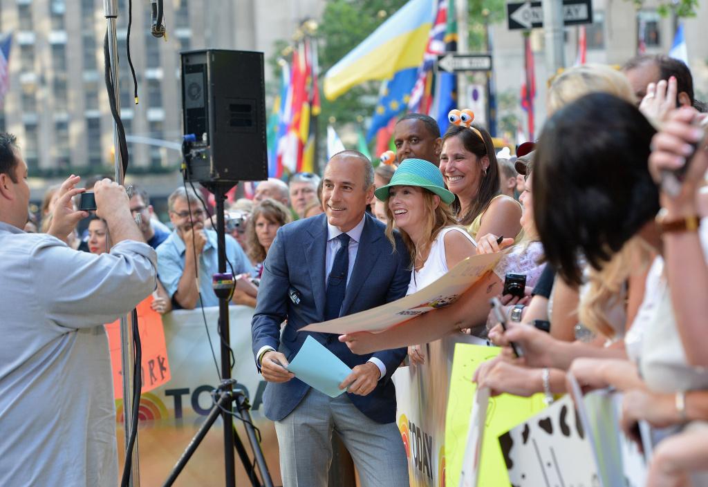 NBC Today host Matt Lauer visits NBC's