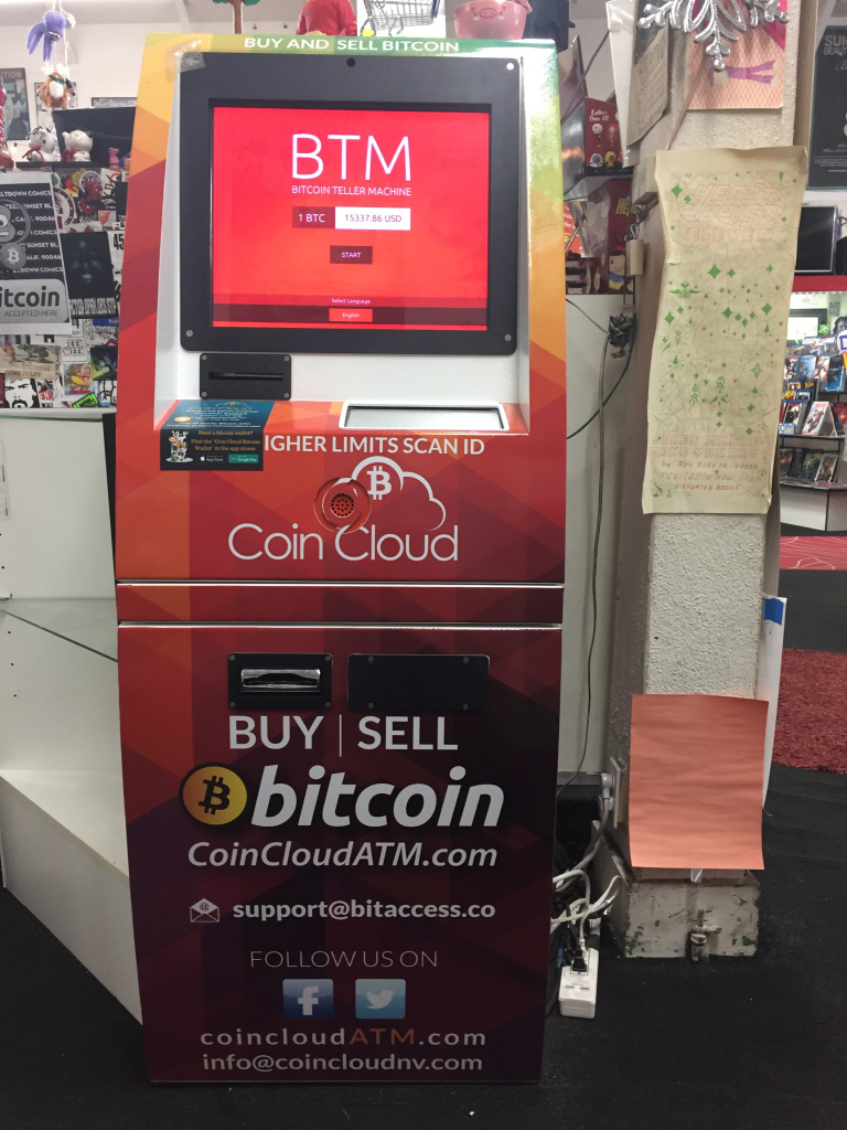 Bitcoin ATM at Meltdown Comics and Collectables in Los Angeles
