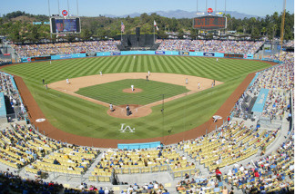 View from second deck at Dodger Stadium, Los Angeles, CA.