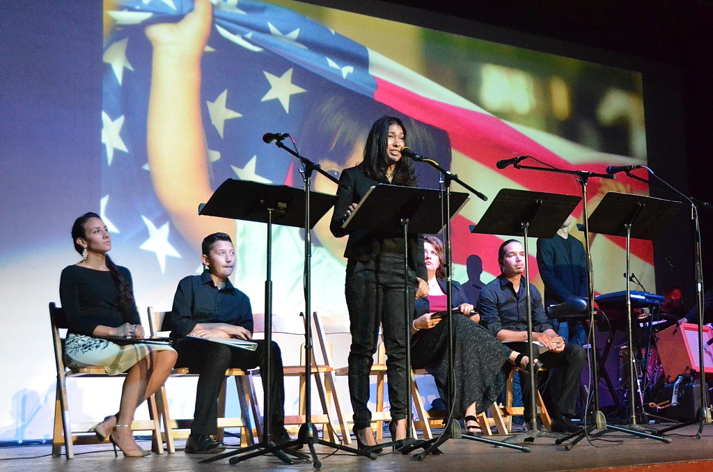 Maria Jose Plascencia played the role of Alejandra Cardona, a survivor of the July 2012 Aurora, Colorado theater shooting, in the Denver production of