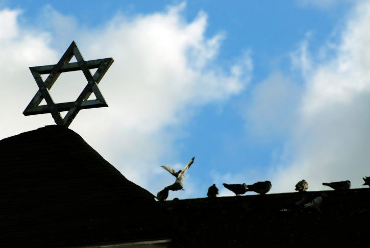 Star of David and angels