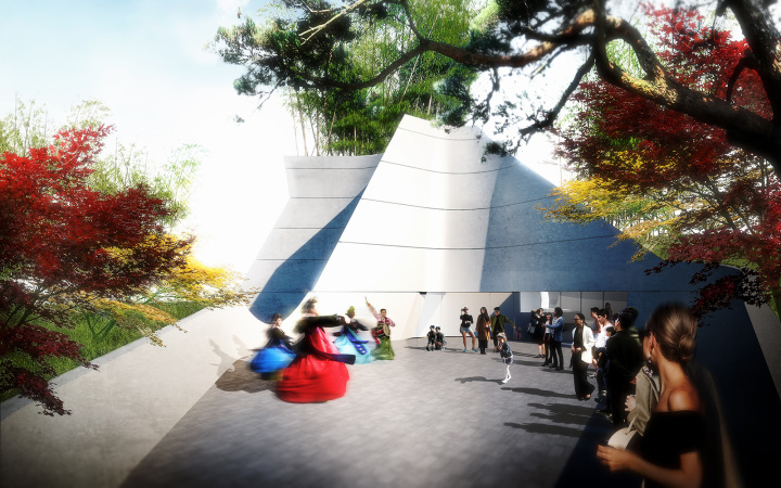 The entrance to the planned 17,000 sq.-foot Korean American National Museum to be built in Koreatown.