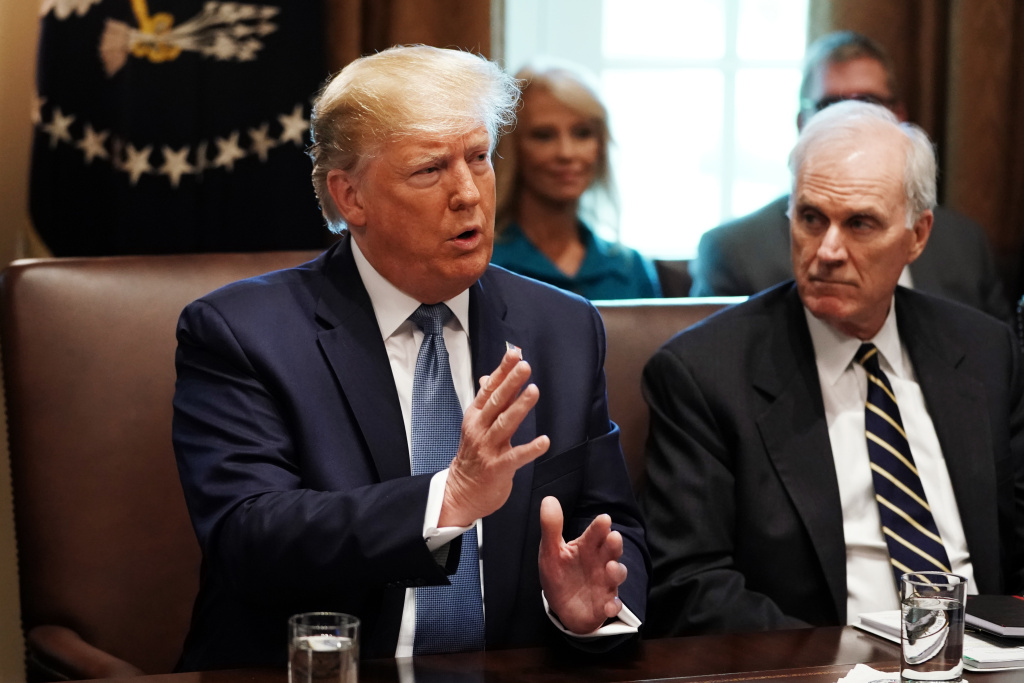 President Trump at a Cabinet meeting July 16, 2019 at the White House.