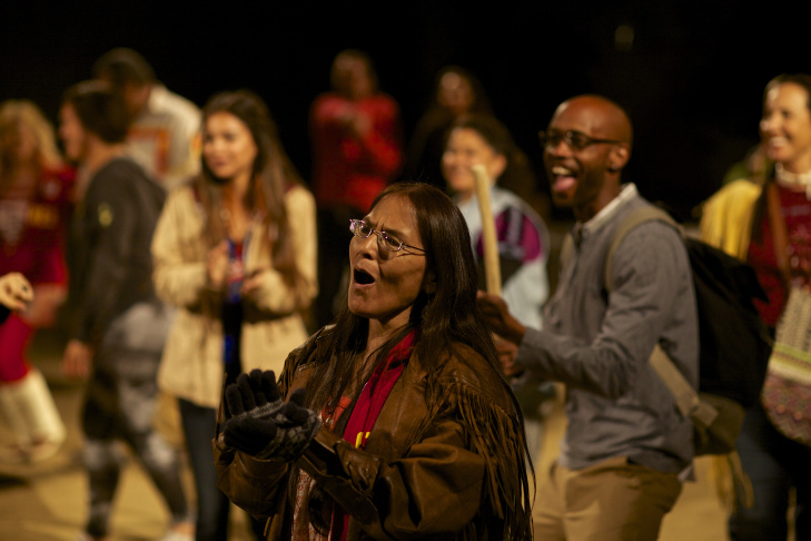 Larissa FastHorse, playwright and choreographer of Cornerstone Theater Company's