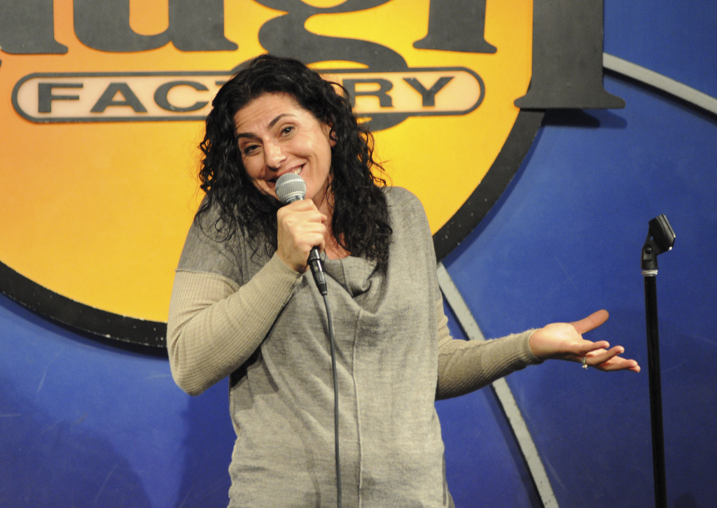 Comedian Kira Soltanovich performs at The Laugh Factory on December 3, 2014 in West Hollywood, California.