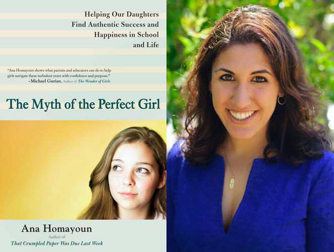 Author Ana Homayoun and her book 'The Myth Of The Perfect Girl.'
