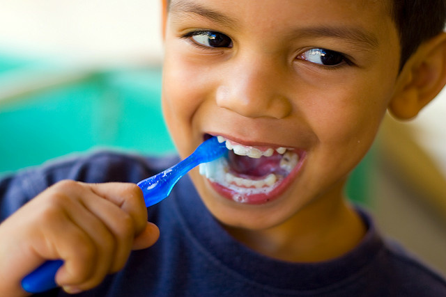 The U.S. Preventive Services Task Force recommends that, in order to preserve the oral health of children five or younger, primary care clinicians administer fluoride varnish to all children and provide fluoride supplements to some others.