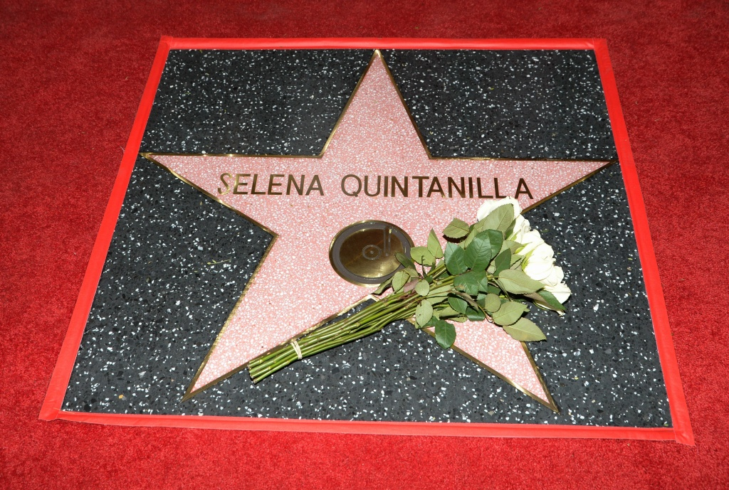 Singer Selena Quintanilla was honored posthumously with a star on the Hollywood Walk of Fame on November 3, 2017.