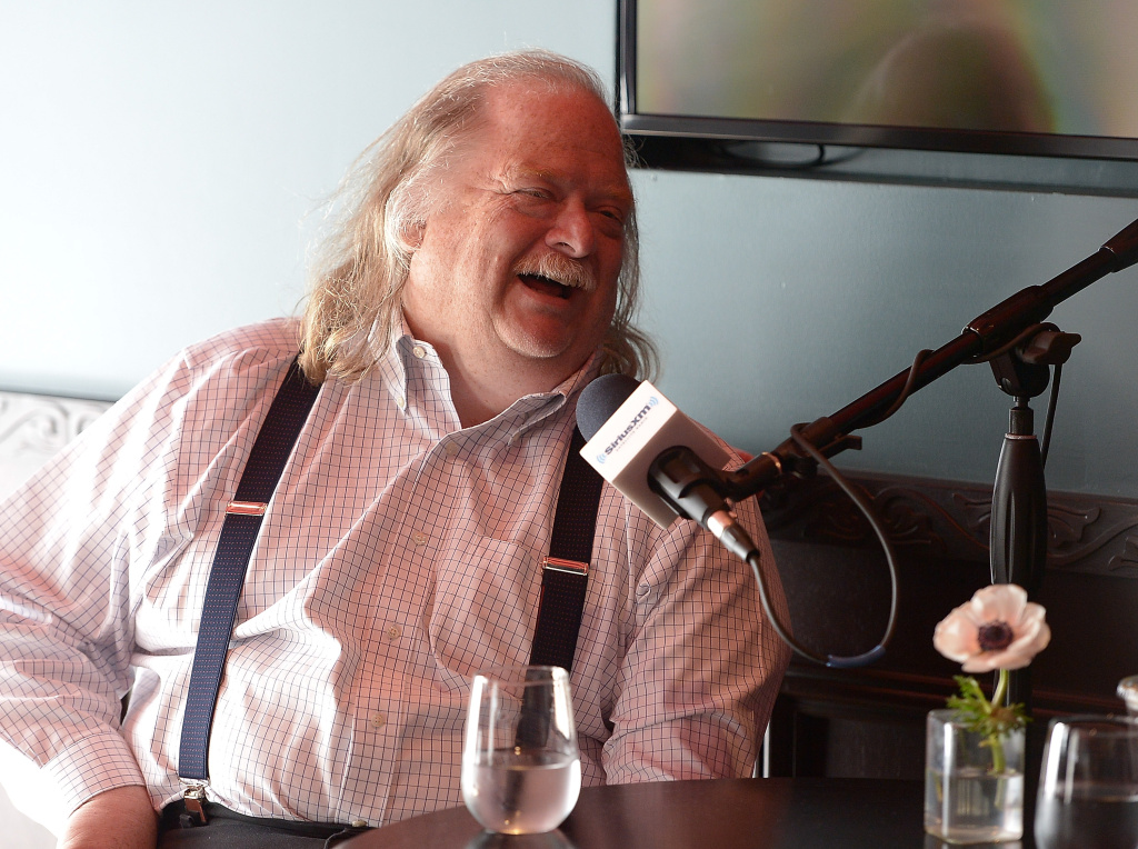 LOS ANGELES, CA - MAY 03: Restaurateur and SiriusXM host Will Guidara tapes his SiriusXM show,