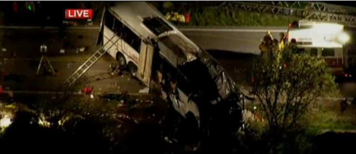 As the sun rises, officials continue to investigate what caused a fatal tour bus crash in San Bernardino County.