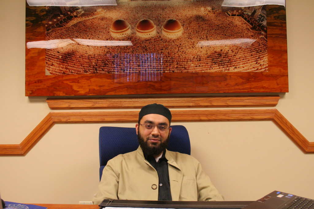 Shaykh Mustafa Umar at his office at the Islamic Institute of Orange County.