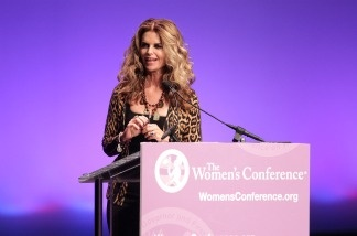 Maria Shriver speaks during the 2010 Women's Conference at the Long Beach Convention Center on October 25 in Long Beach, California.