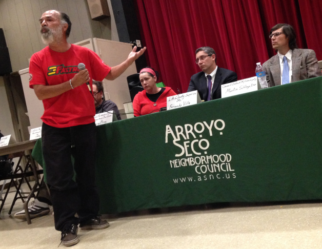 Ron, who said he's been living in the Arroyo Seco with his girlfriend, gave panelists an earful Tuesday.