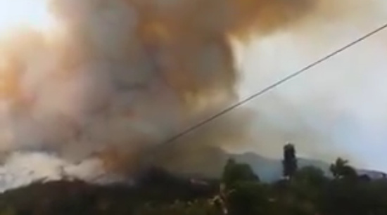 The Pala Fire burning south of Temecula on May 31, 2016.