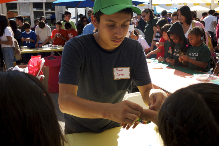 Fifth grader Eliana Gutierrez gets her face painted. She was one of about 1,200 students who attended the Very Special Arts Festival in downtown Los Angeles on Oct. 18, 2013.