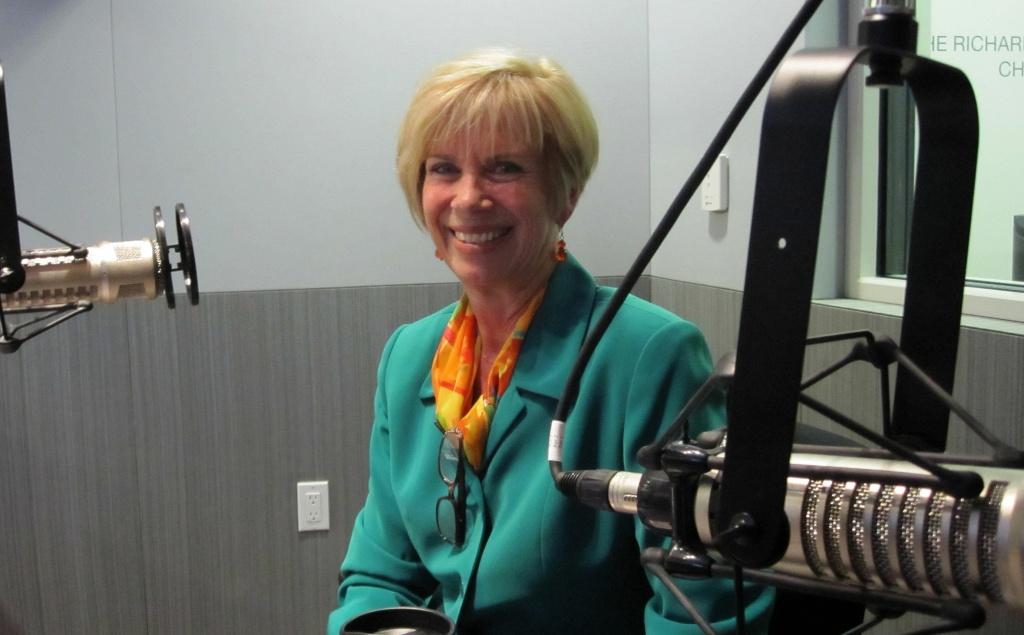 Janice Hahn in the KPCC studio.