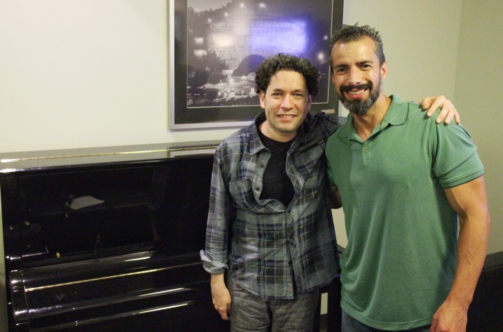 Left to right: Gustavo Dudamel and A Martinez