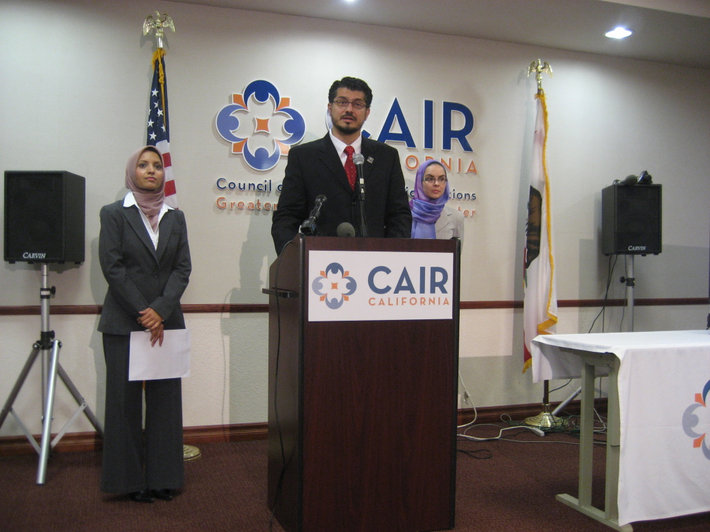 CAIR-LA Executive Director Hussam Ayloush unveils the