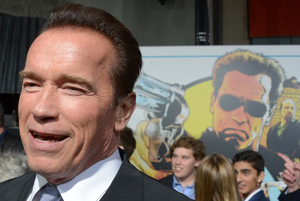 Arnold Schwarzenegger arives at the world premiere of