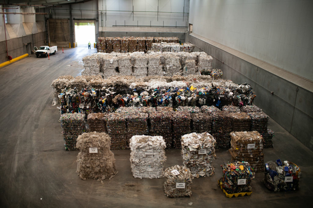 Recyclables are manually sorted out at the Materials Recycling Facility at Puente Hills. A $430 million railway system intended to haul garbage to a desert landfill is at a standstill because Los Angeles County sanitation officials say it's cheaper to use local dumps.