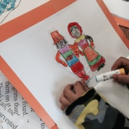 Kindergarten students at Weemes Elementary in Exposition Park study the first Thanksgiving story, adding culture and flavor of their own.