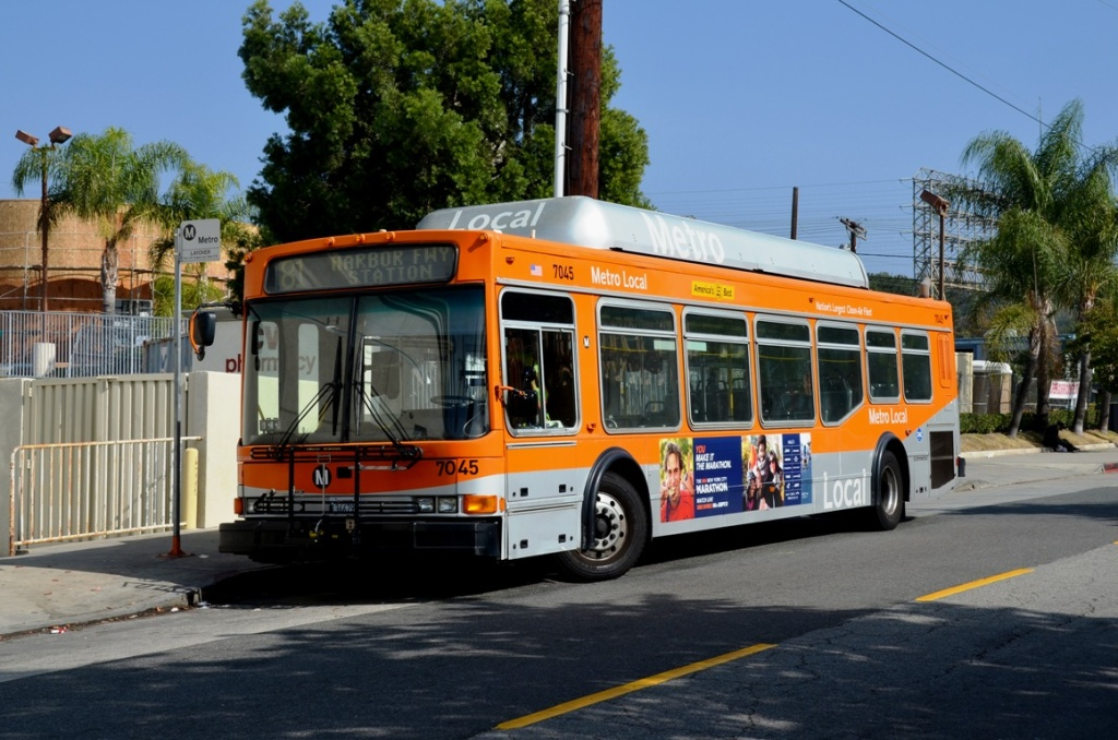 FILE: A Los Angeles Metro bus may be an unlikely setting for romance, but could attitudes be changing?