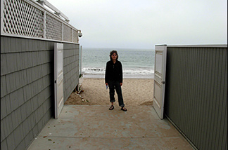 Beach watchdog Jenny Price at the David Geffen Memorial Beach Access in Malibu.