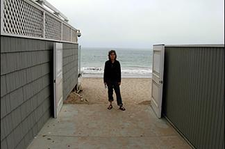 Beach watchdog Jenny Price at the David Geffen Memorial Beach Access in Malibu.